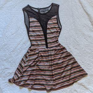For Love & Lemons Lulu Striped Multicolour Dress
